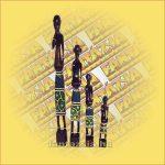 Afrikai figura szett 4db/szett B