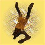 Primitív törzsi figura mini kézanálló/bortartó