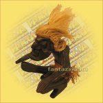 Primitív törzsi figura mini guggoló