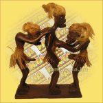 Primitív törzsi figura szexelő figura tripla A