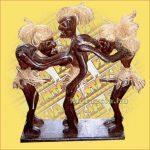Primitív törzsi figura szexelő figura tripla B