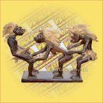Primitív törzsi figura szexelő figura tripla C