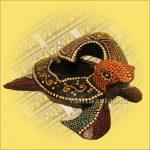 Teknős hamutartó aboriginal közepes