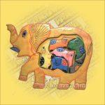 Puzzle mix elefánt