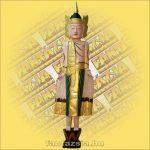 Buddha alló/festett 100cm A