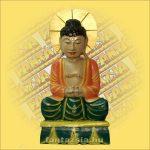 Buddha ülo színes 60cm