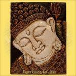 Buddha falikép fehér színű