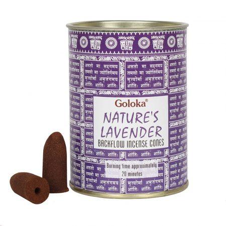 Goloka Lavender-Levendula Back Flow Kúpfüstölők (folyékony füst)