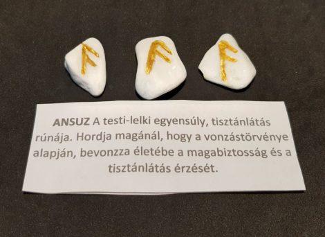 ANSUZ-Rúna talizmán-görög márvány