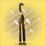 Zsiráf figura fa 100cm B