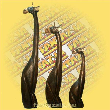 Zsiráf ülő fa figura 80cm