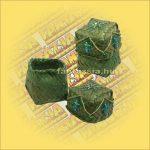 Doboz fonott négyszög zöld