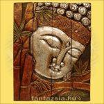Buddha falikép négyrészes/ezüst