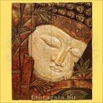 Buddha falikép négyrészes/fehér