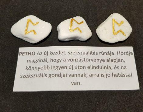 PETHO-Rúna talizmán-görög márvány