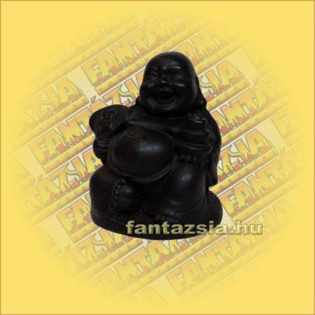 Nevető Buddha Aranyröggel és Legyezővel
