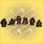 Szerencsehozó Buddha Szett Arany Színű