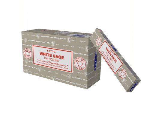 Satya White Sage-Fehér Zsálya Maszala Füstölő