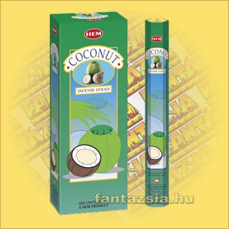 HEM Kókusz illatú indiai füstölő /HEM Coconut/