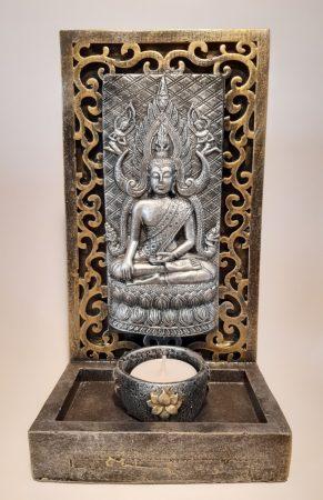 Buddha mécsestartó hátlappal II.
