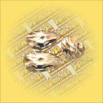 Feng Shui Kristály levél/csillag csiszolás 50mm