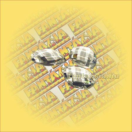 Feng Shui Kristály levél/rombusz csiszolás 38mm
