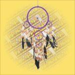 Álomfogó (álomőrző) lila 22cm