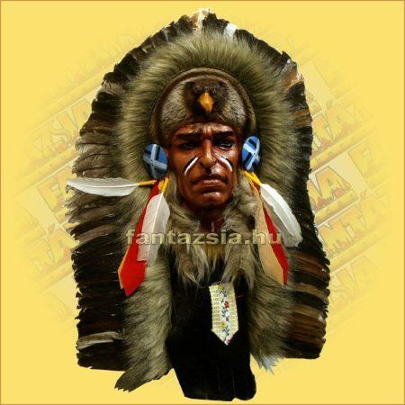 Indián maszk tollas  K