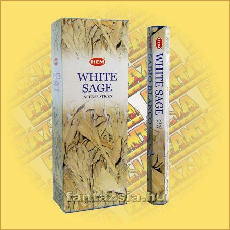 HEM Fehér Zsálya illatú indiai füstölő /HEM White Sage/