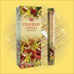 HEM Vanília Eper illatú  indiai füstölő /HEM Vanilla Strawberry/