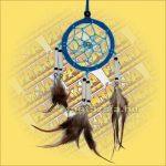 Álomfogó-Álomcsapda-Álomőrző velúr világoskék 6cm