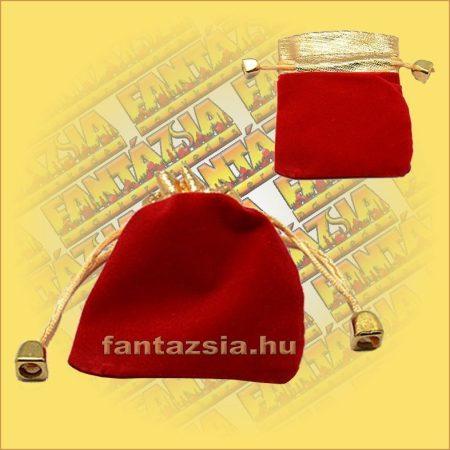 Ékszertartó  zsák piros