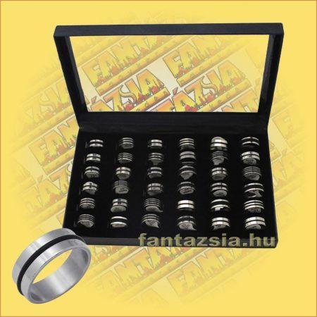 Nemesacél gyűrű kaucsukgumi betéttel 36db/doboz