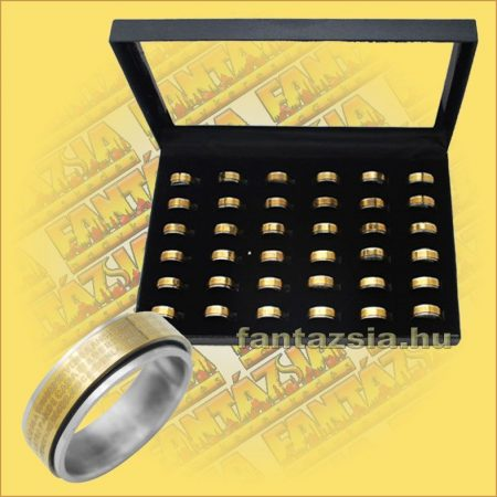 Nemesacél gyűrű réz forgó rátéttel 36db/doboz