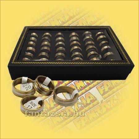 Rézgyűrű fémszínű betéttel 36db/doboz