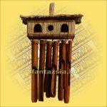 Bambuszkolomp kétsoros/madárházzal