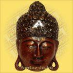 Maszk Buddha bordó 40cm