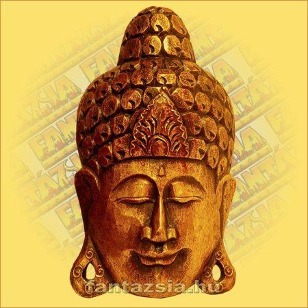 Buddha maszk arany színű 30 cm