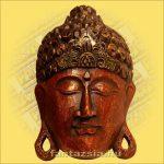 Buddha maszk bordó színű 30 cm