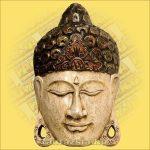 Buddha maszk fehér színű 30cm