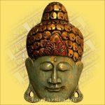 Buddha maszk kék színű 30cm