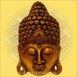 Buddha maszk arany színű 50cm