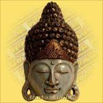 Buddha maszk kék színű 50cm