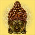 Buddha maszk zöld színű 50cm