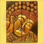 Buddha kép négyrészes/arany