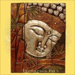 Buddha kép négyrészes/ezüst