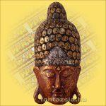 Buddha maszk bordó színű 60 cm