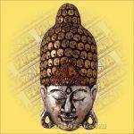 Buddha maszk ezüst színű 60 cm
