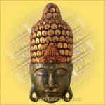 Buddha maszk zöld színű 60 cm