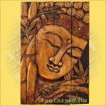 Buddha falikép arany
